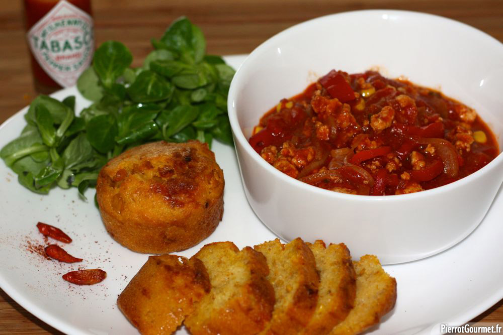 Chili con carne au boeuf (ou au poulet)