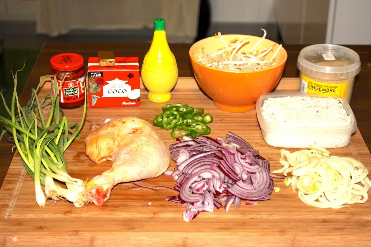 Ingrédients du bouillon asiatique