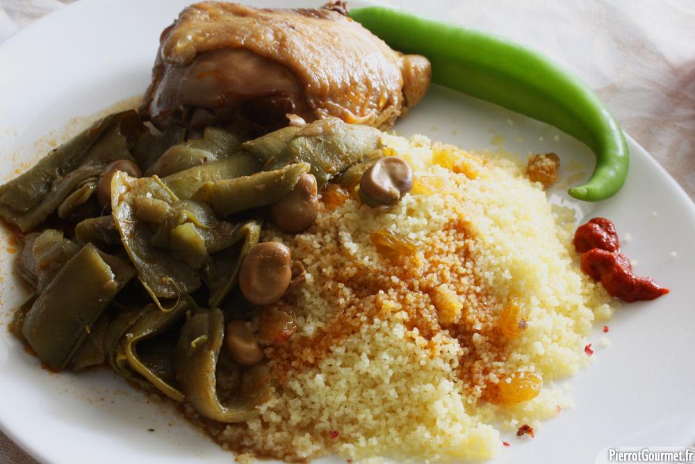 couscous tradiutionnel aux fèves