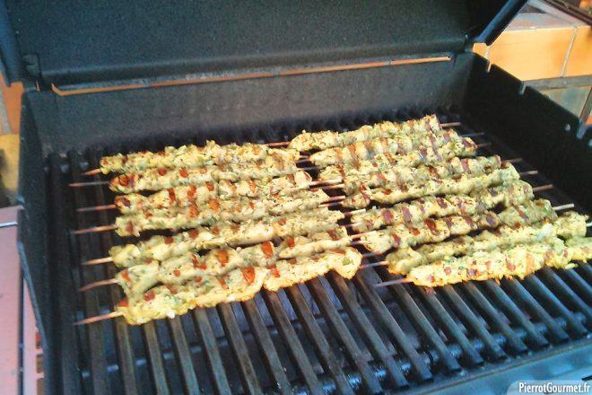Brochette au barbecue