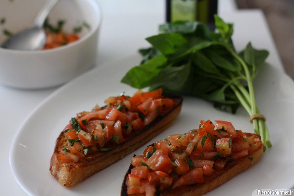 Bruschetta Tomate Basilic