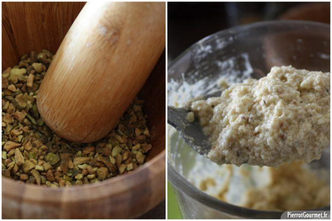 Crème d'amande à la pistache