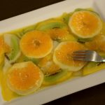Salade de fruits en carpaccio