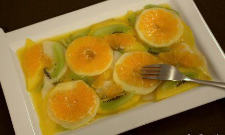 Salade de fruits en carpaccio